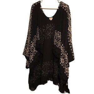 3/$20 Mossimo Fair Isle Tribal Kimono Cardigan